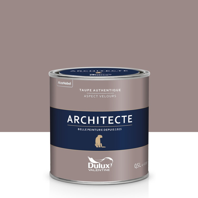 Peinture Taupe Authentique Velours Dulux Valentine Architecte 05 L