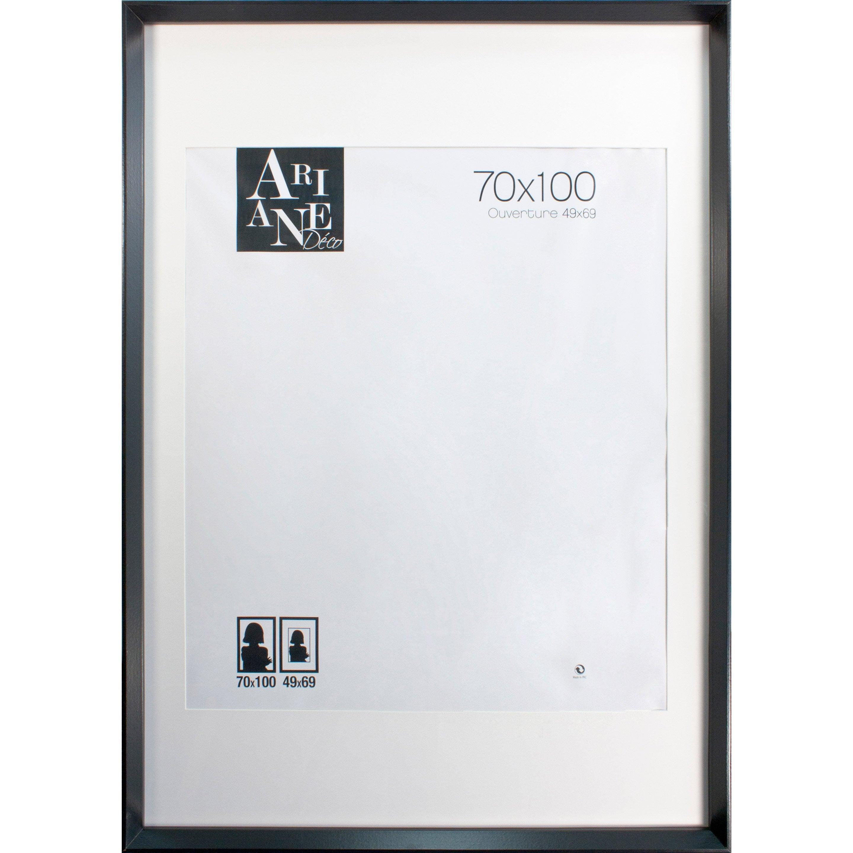 cadre milano noir 70 x 100 cm leroy merlin