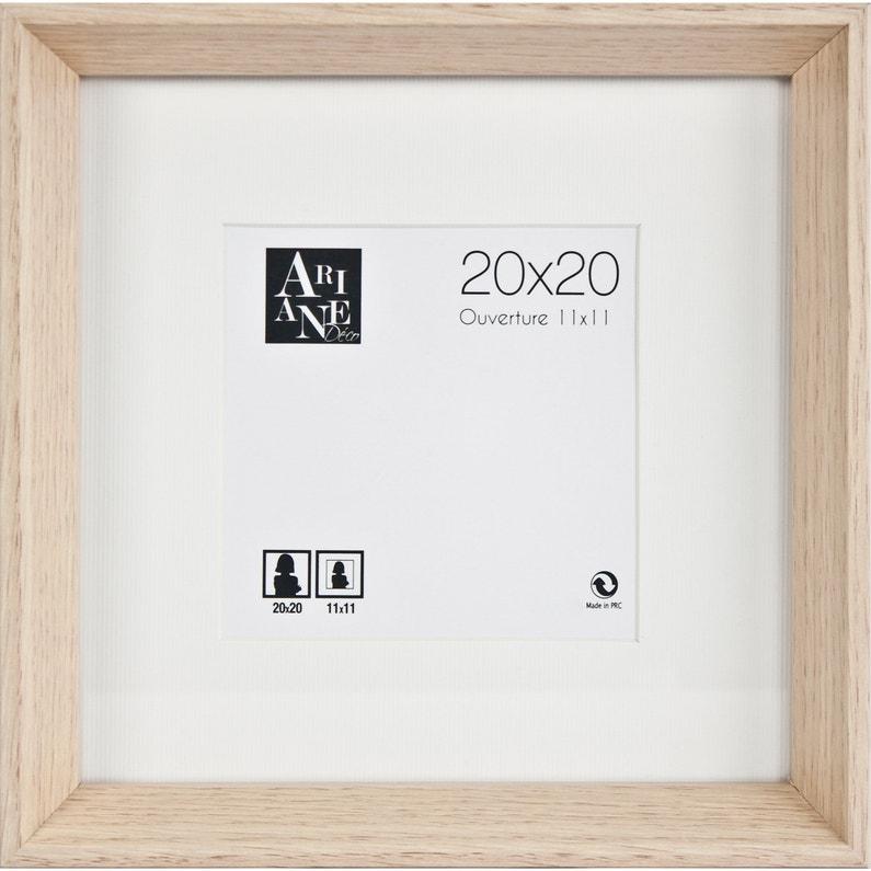Cadre Milano Chêne Clair 20 X 20 Cm
