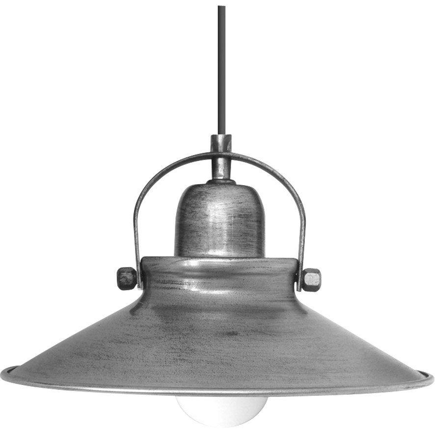 Suspension, industriel métal gris SEYNAVE Mirano 1 lumière(s) D.30 cm