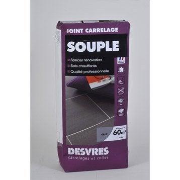 Joint poudre tout type de carrelage et mosaïque DESVRES, gris, 25 kg