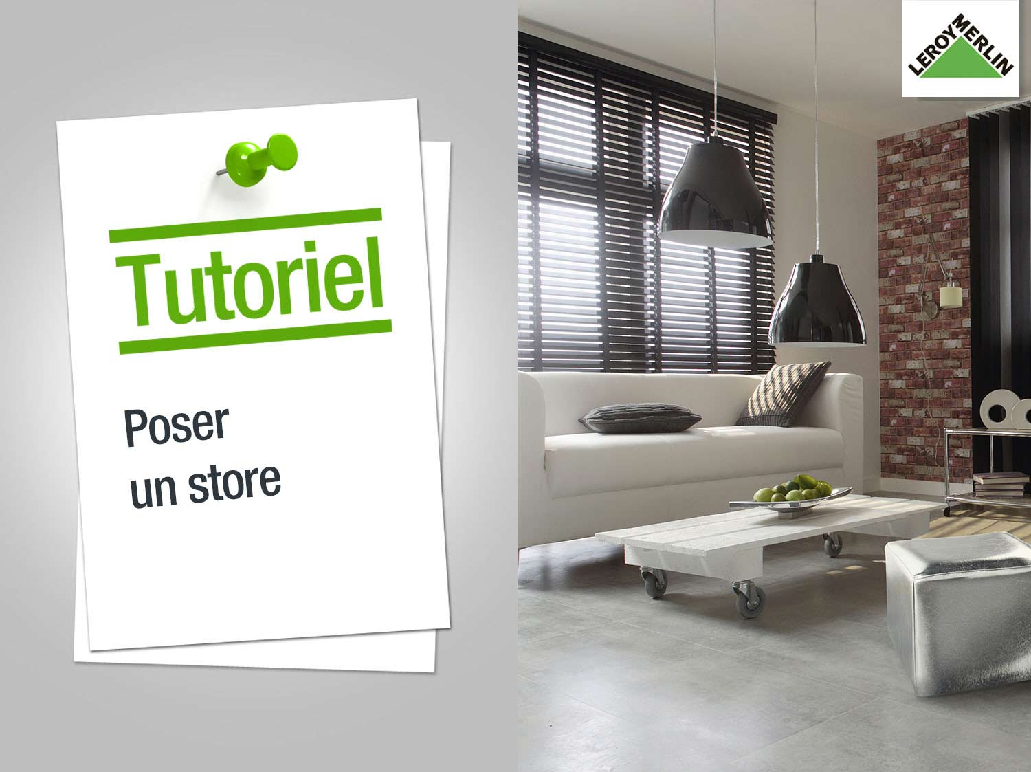 free comment poser un store with store bateau leroy merlin. Black Bedroom Furniture Sets. Home Design Ideas