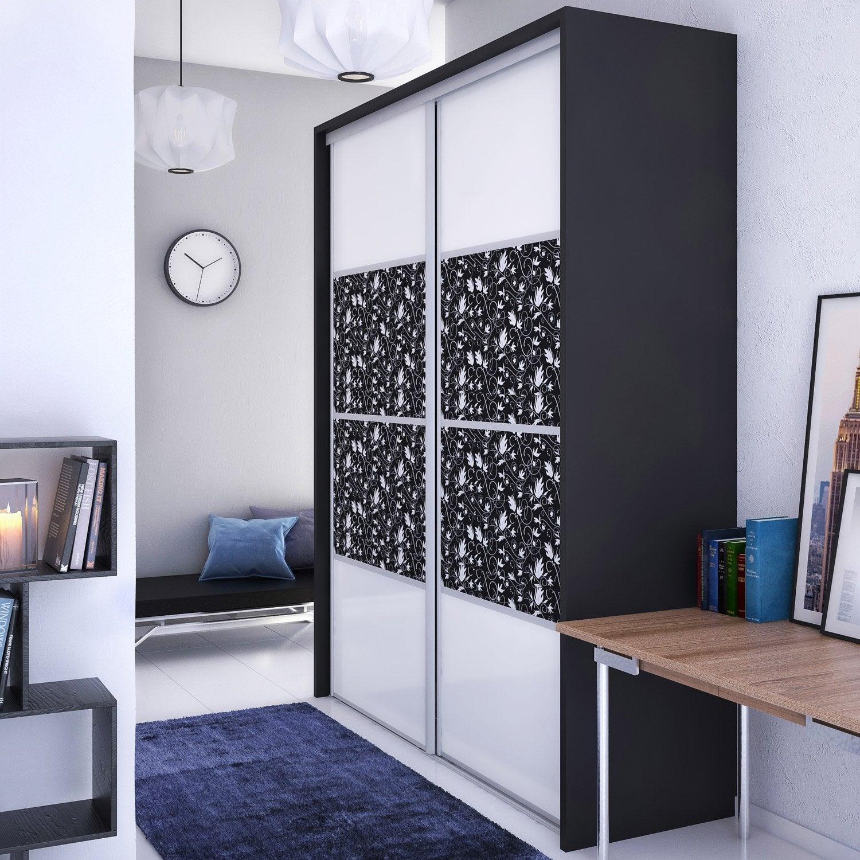 Porte De Placard à Composer Personnalisable Et Recoupable Au - Porte placard coulissante et porte en bois blanc