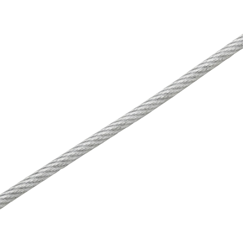 format plat 80 x 14 mm x 2 m Cache-c/âble sol en caoutchouc gris