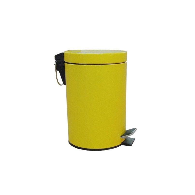 Poubelle de salle de bains 3 l jaune anis 4 sensea happy for Poubelle salle de bain leroy merlin