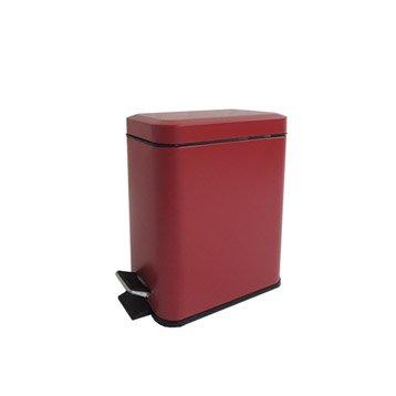 poubelle de salle de bains 5 l rouge rouge n3 sensea slim