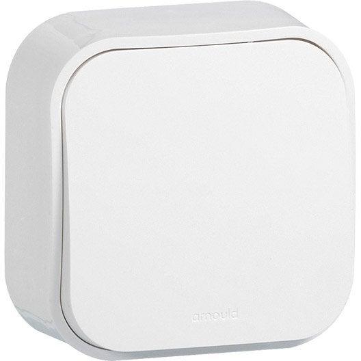 interrupteur va et vient saillie profil arnould blanc. Black Bedroom Furniture Sets. Home Design Ideas