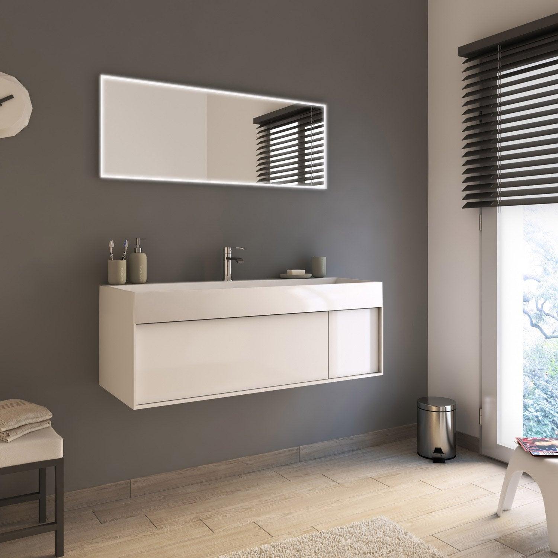 Meuble de salle de bains plus de 120 blanc neo frame leroy merlin - Salle de bain leroy merlin neo ...