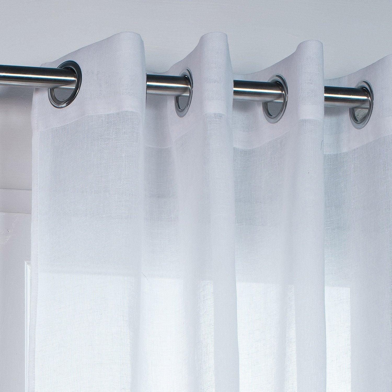 voilage tamisant grande hauteur rio blanc x cm leroy merlin. Black Bedroom Furniture Sets. Home Design Ideas