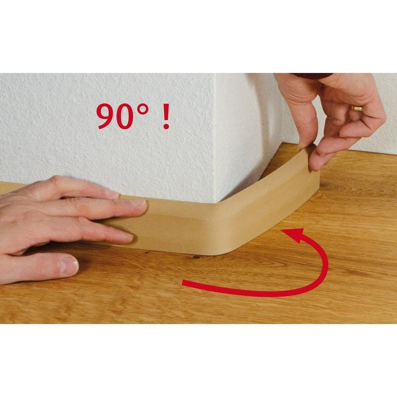 Plinthe Flexible En Pvc Blanc 10x69mm L 240m