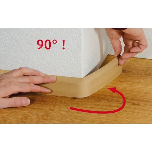 plinthe flexible en pvc blanc 10x69mm l leroy merlin. Black Bedroom Furniture Sets. Home Design Ideas