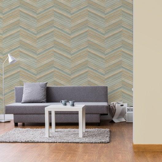 papier peint intiss chevron marron leroy merlin. Black Bedroom Furniture Sets. Home Design Ideas