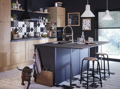 ilot cuisine roulette interesting perfect chambre ilot de cuisine ilot de cuisine sur roulettes. Black Bedroom Furniture Sets. Home Design Ideas