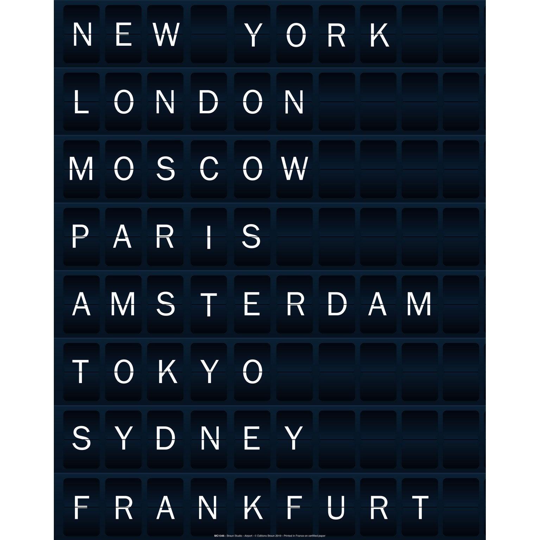 Affiche Airport, noir et blanc l.40 x H.50 cm