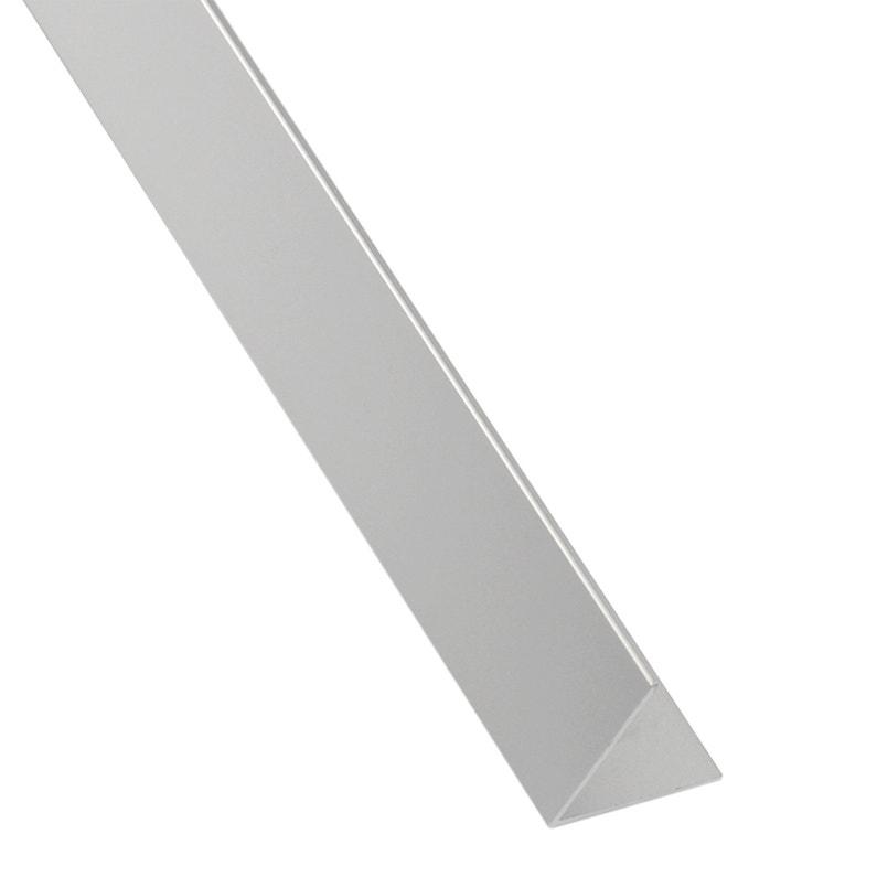 Cornière égale Aluminium Anodisé Brillant L26 M X L11 Cm X H11 Cm