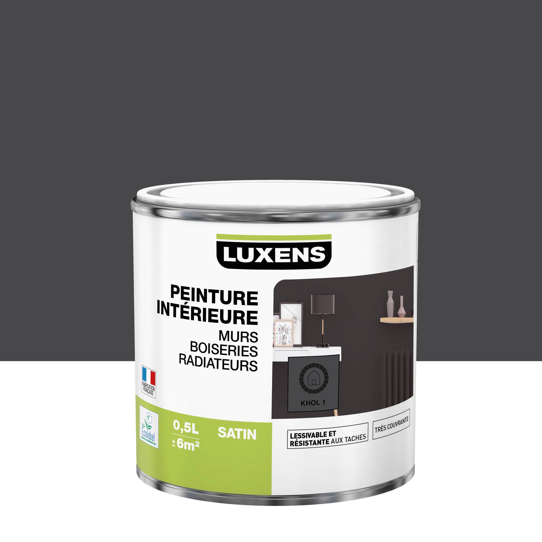 Peinture mur, boiserie, radiateur Multisupports LUXENS khol 1 satiné 0.5 l