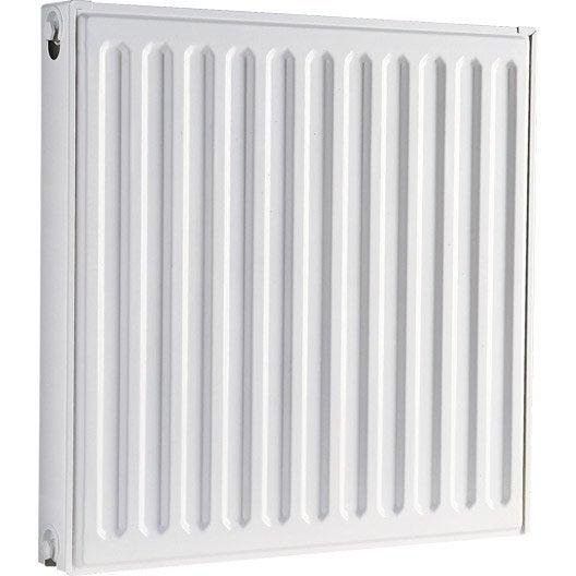Radiateur chauffage central double blanc cm 764 w leroy merlin - Radiateur chauffage central hauteur 40 cm ...