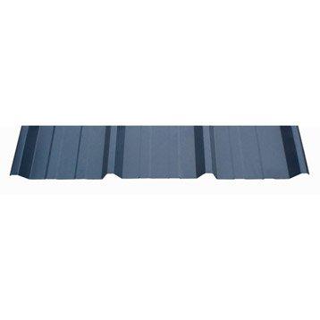 plaque rgule surmesure nervur acier galvanis bleu l x l. Black Bedroom Furniture Sets. Home Design Ideas