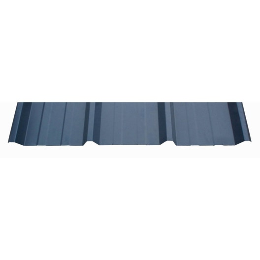 plaque sur mesure nervur acier galvanis bleu l x l. Black Bedroom Furniture Sets. Home Design Ideas
