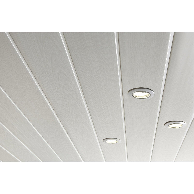 Lambris PVC Blanc Cérusé ARTENS L.400 X L.37.5 Cm X Ep.