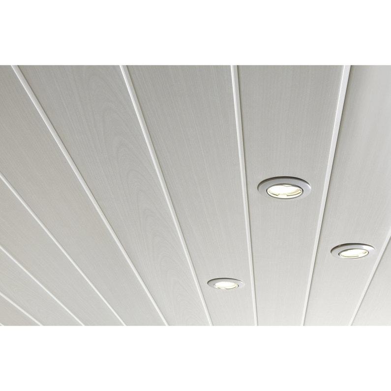 Lambris PVC blanc cérusé ARTENS L.400 x l.37.5 cm x Ep.8 mm   Leroy ...