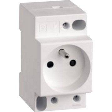 Prise modulaire 2 P + T phase + neutre SCHNEIDER ELECTRIC 16 A