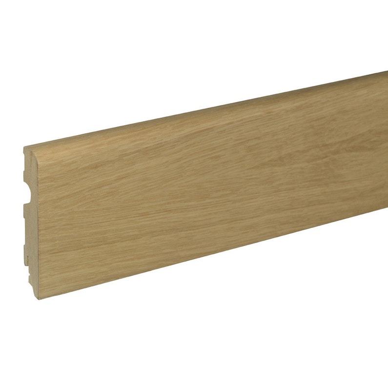 plinthe parquet plaqu ch ne blond cm x x ep. Black Bedroom Furniture Sets. Home Design Ideas
