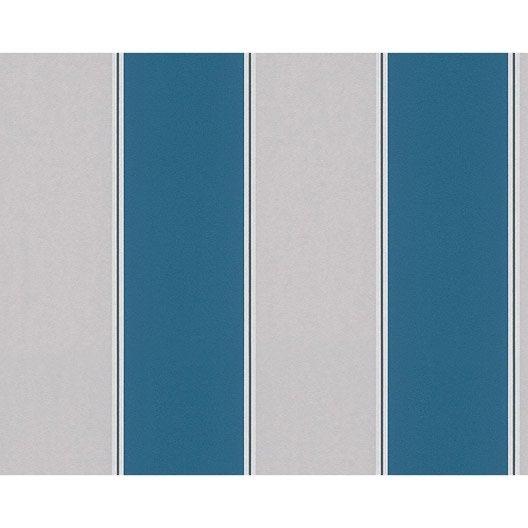 papier peint line blanc bleu gris intiss metropolis 2 leroy merlin. Black Bedroom Furniture Sets. Home Design Ideas