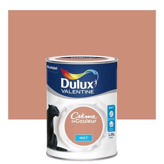 Peinture cuivre rose dulux valentine cr me de couleur mat - Peinture marron glace dulux valentine ...