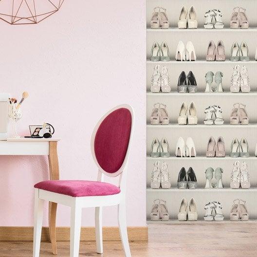 Papier peint intiss dressing de chaussure leroy merlin - Papier peint dressing ...