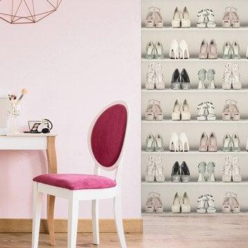 Papier peint intissé Dressing de chaussure beige
