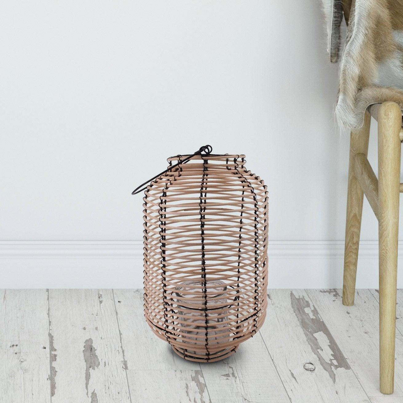 Lanterne PILI, naturel l.25 x H.36 cm