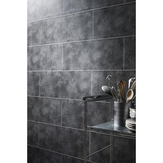 lambris pvc béton gris clair dumaplast l.120 x l.25 cm x ep.10 mm ... - Lambris Pvc Dans Salle De Bain