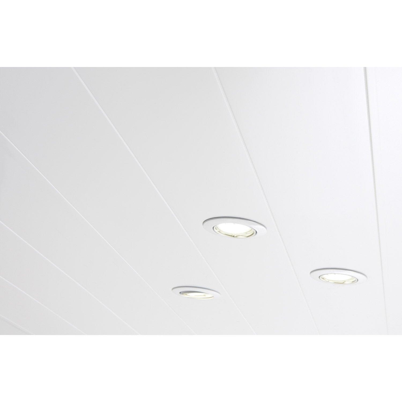 Lambris PVC Blanc ARTENS L.400 X L.37 Cm X Ep.8 ...