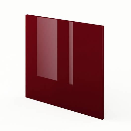 porte lavevaisselle de cuisine rouge griotte l60 x h55
