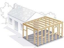 tout savoir sur la construction à ossature bois | leroy merlin - Plan Garage Ossature Bois Toit Plat