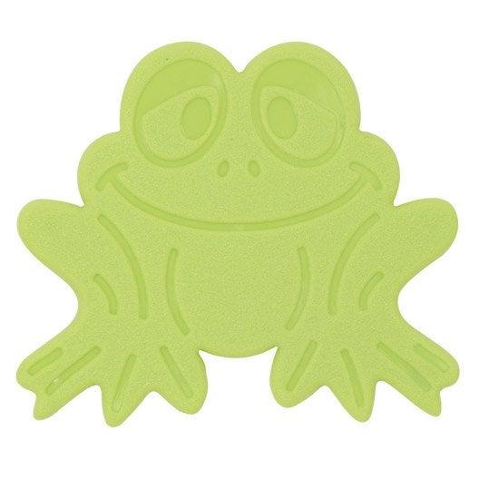 Tapis antid rapant vert pour baignoire douche grenouilles leroy merlin - Tapis antiderapant pour douche ...