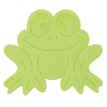 Tapis antidérapant vert pour baignoire / douche, Grenouilles