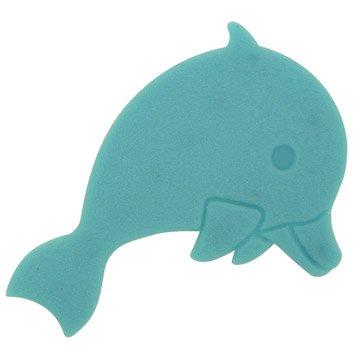 Tapis antidérapant bleu pour baignoire / douche, Dauphins