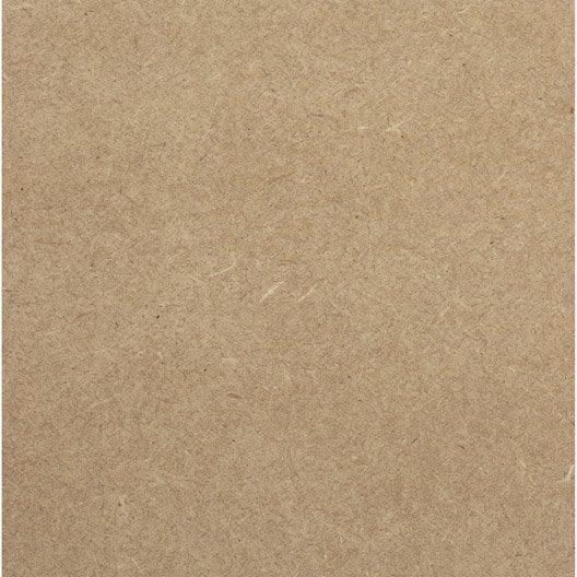 Panneau médium (mdf) naturel, Ep.18 mm x L.250 x l.122 cm