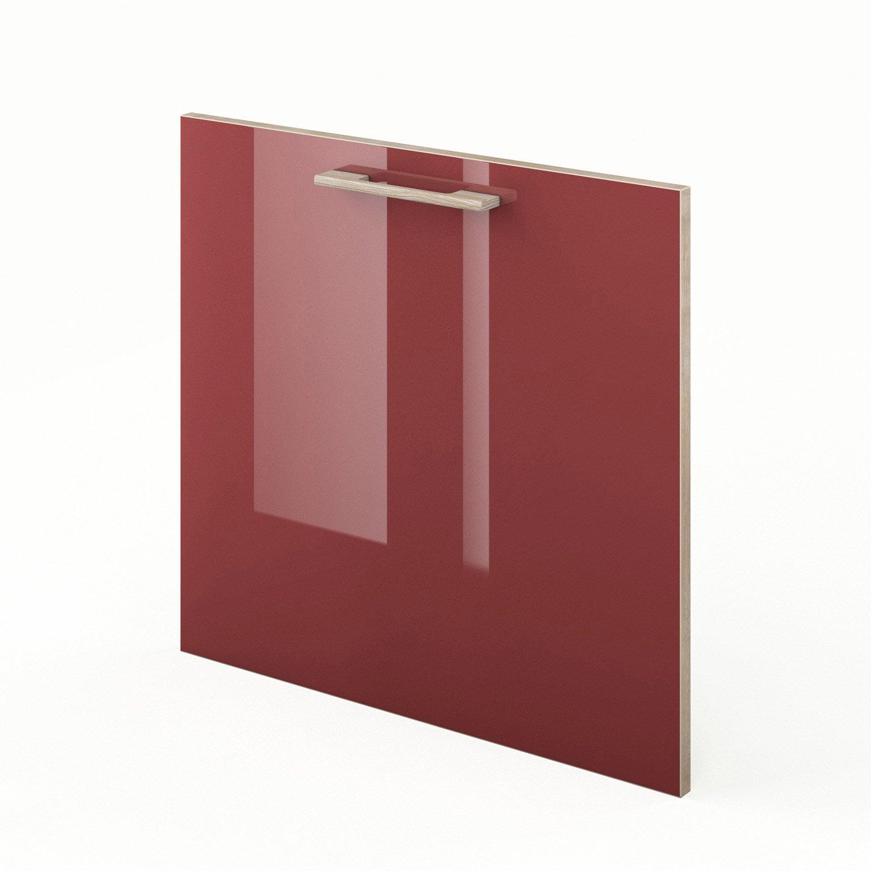 porte pour lave vaisselle de cuisine rouge grenade x cm leroy merlin. Black Bedroom Furniture Sets. Home Design Ideas
