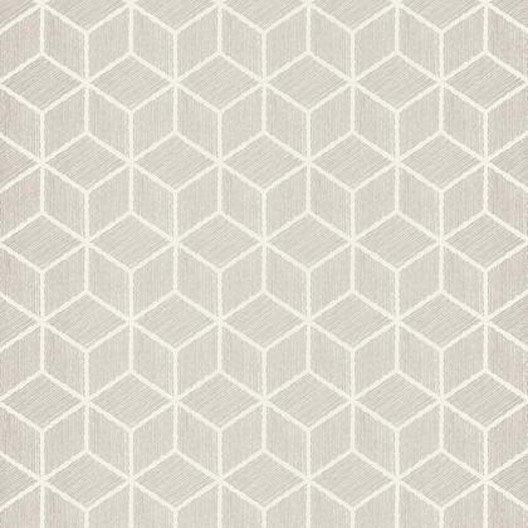 papier peint hexagone gris iris intiss shades leroy merlin. Black Bedroom Furniture Sets. Home Design Ideas