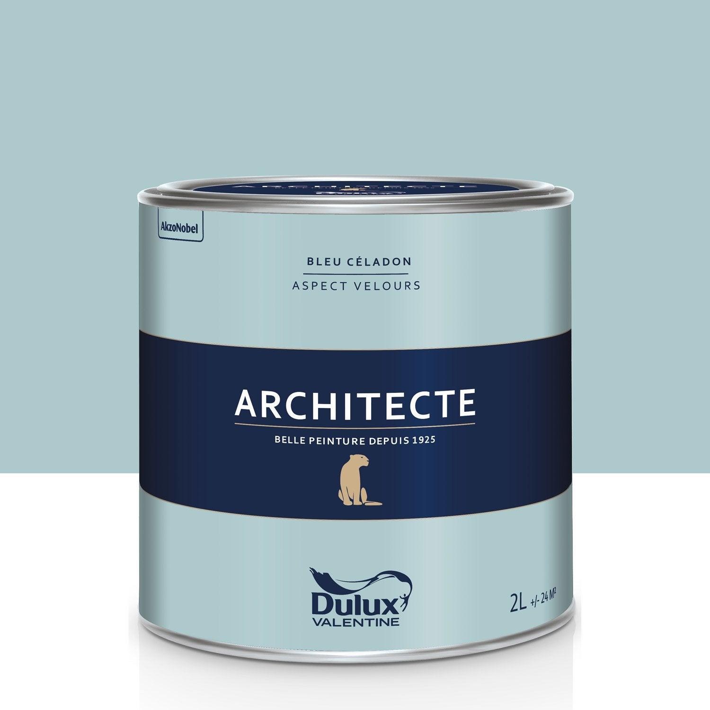 Peinture Bleu C Ladon Velours Dulux Valentine Architecte 2 L Leroy