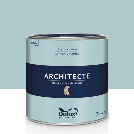 peinture bleu c ladon velours dulux valentine architecte 2 l leroy merlin. Black Bedroom Furniture Sets. Home Design Ideas