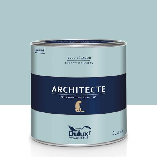 peinture bleu c ladon velours dulux valentine architecte 2. Black Bedroom Furniture Sets. Home Design Ideas