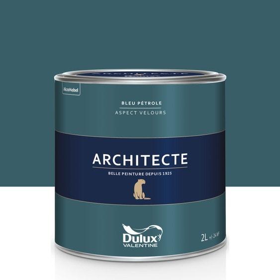 peinture bleu p trole velours dulux valentine architecte 2 l leroy merlin. Black Bedroom Furniture Sets. Home Design Ideas