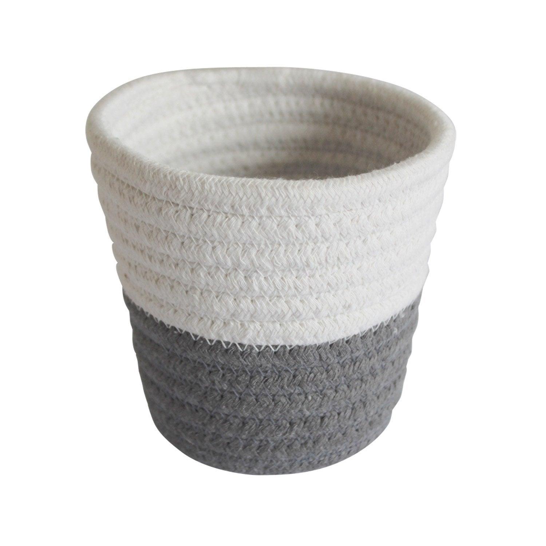 Panier en coton gris-gris n°1, Mini cordou