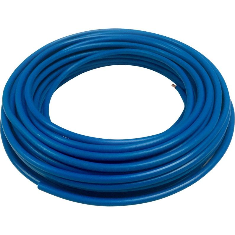 Fil électrique 25 Mm² H07vu En Couronne De 10m Bleu