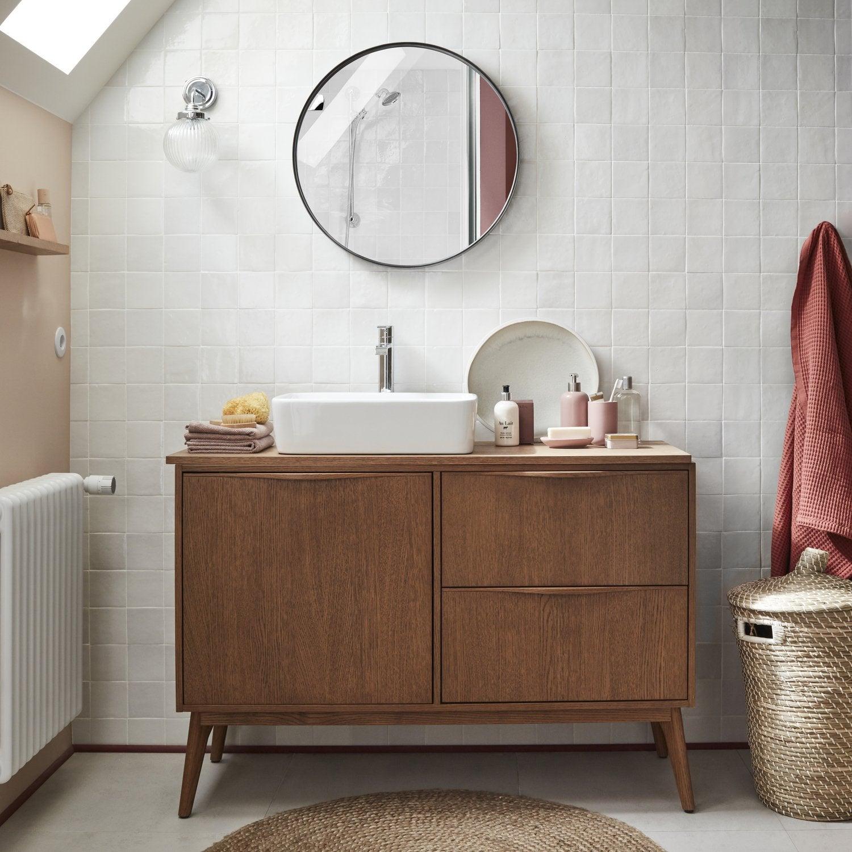 Les meubles de salle de bains bois  Leroy Merlin