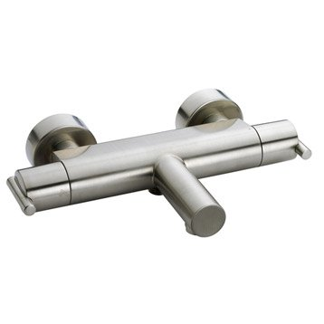 Mitigeur thermostatique de baignoire inox, SENSEA Filea